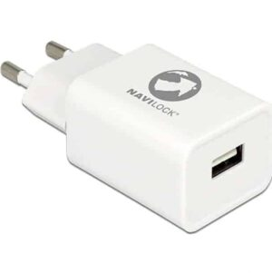 INCARCATOR PRIZA 1 X USB 5V 2.4A + CABLU MICRO USB-B ALB