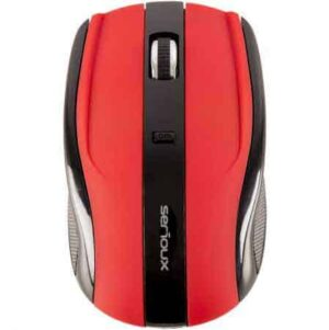 MOUSE-SERIOUX-CLEANPC-ZALAU-WIRELESS-RAINBOW-RED-OPTIC