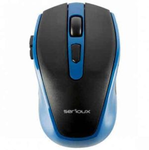 MOUSE-SERIOUX-WIRELESS-BLUE-OPTIC-USB