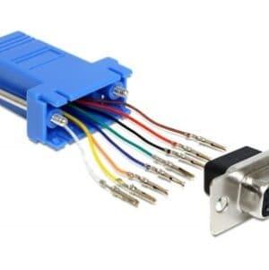 Adaptor D-Sub 9 pini la RJ45 M - M, Delock 6c5p4c30